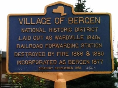 Village of Bergen Marker image. Click for full size.