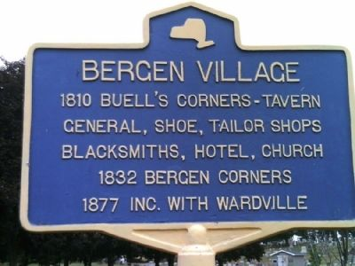 Bergen Village Marker image. Click for full size.