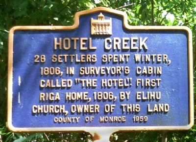 Hotel Creek Marker image. Click for full size.