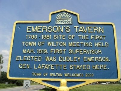 Emerson's Tavern Marker image. Click for full size.