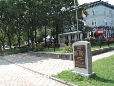 Marker on the Rondout Creek Waterfront image. Click for full size.