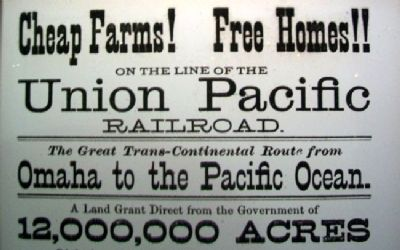 Poster on Union Pacific's Omaha Shops Marker image. Click for full size.