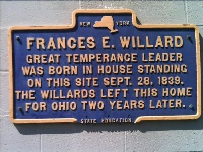 Francis E. Willard Marker image. Click for full size.