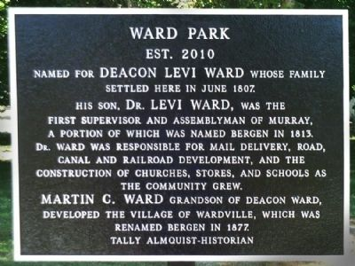 Ward Park Marker image. Click for full size.