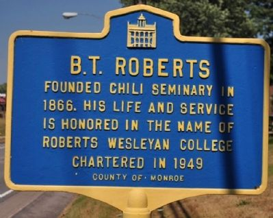 B.T. Roberts Marker image. Click for full size.