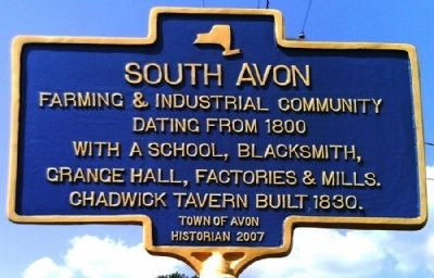 South Avon Marker image. Click for full size.