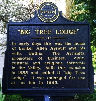 Big Tree Lodge Marker image. Click for full size.