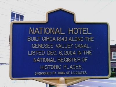 National Hotel Marker image. Click for full size.