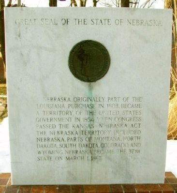 Territory and State of Nebraska Marker image. Click for full size.