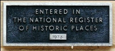 St. Mary's Cathedral Plaque for National Register of Historical Places image. Click for full size.