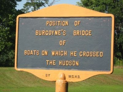 Position of Burgoyne's Bridge Marker image. Click for full size.