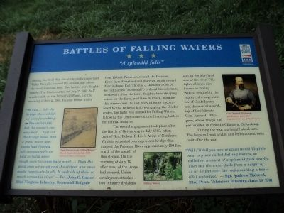 Battles of Falling Waters Marker image. Click for full size.