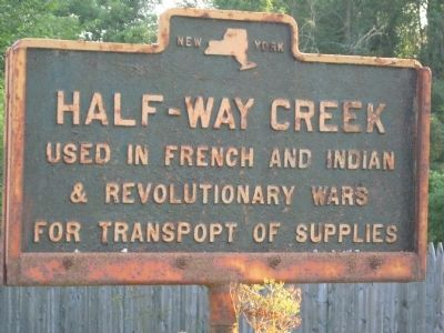 Half-Way Creek Marker image. Click for full size.