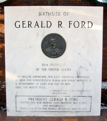 Birthsite of Gerald R. Ford Marker image. Click for full size.