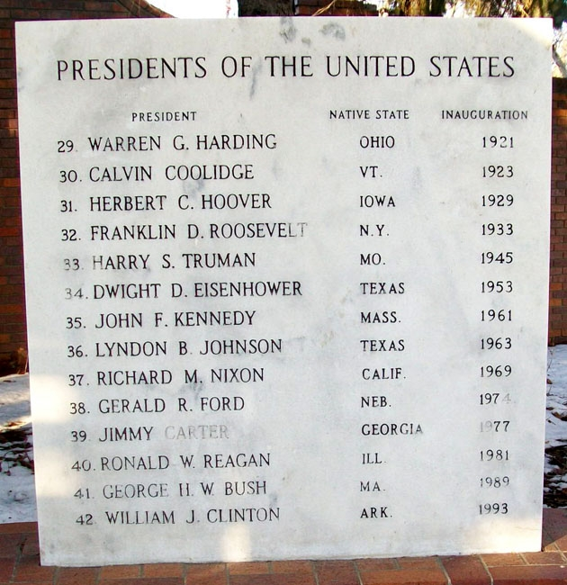 U.S. Presidents Marker