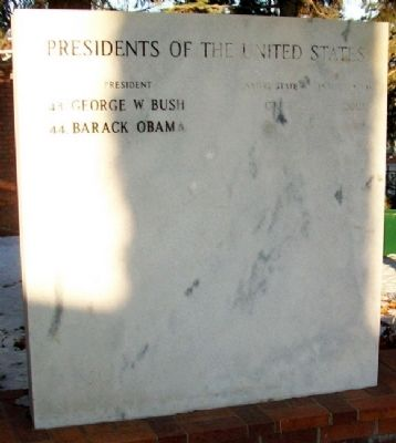 U.S. Presidents Marker image. Click for full size.