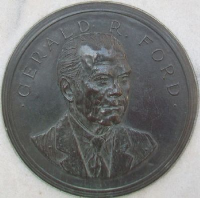 Gerald R. Ford Medallion on Marker image. Click for full size.