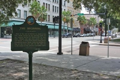 The Beginning Marker at S. Market Street near E. Bay Street image. Click for full size.