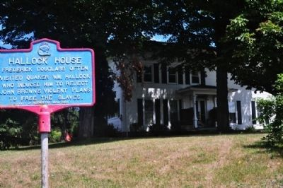 Hallock House and marker image. Click for full size.