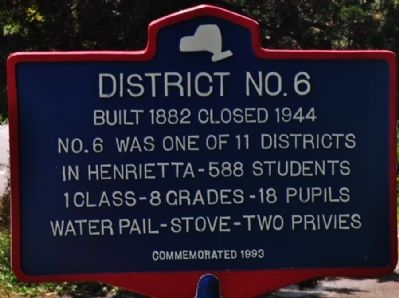 District No. 6 Marker image. Click for full size.