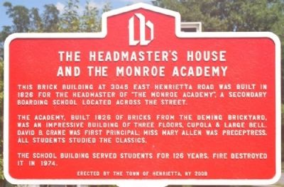 The Headmaster's House and the Monroe Academy Marker image. Click for full size.