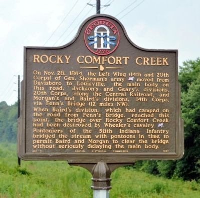 Rocky Comfort Creek Marker image. Click for full size.