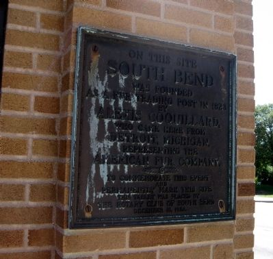 On This Site South Bend Was Founded Marker image. Click for full size.
