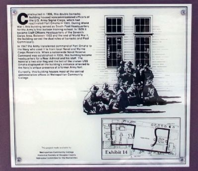 Fort Omaha Headquarters Building Marker image. Click for full size.