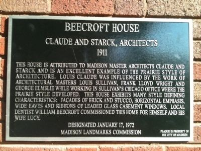 Beecroft House Marker image. Click for full size.