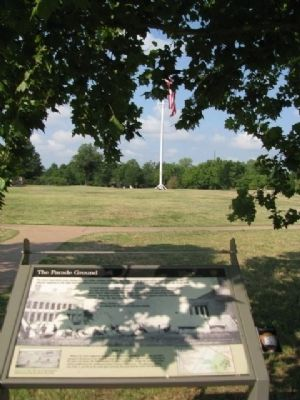 The Parade Grounds & Marker image. Click for full size.