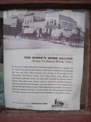 Write-up of the Miner's Home Saloon, in the front window image. Click for full size.