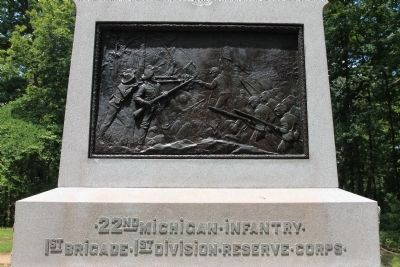 22nd Michigan Infantry Marker image. Click for full size.