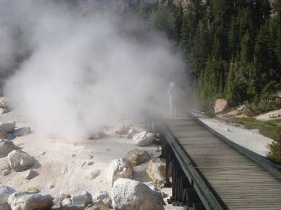 Bumpass Hell, boiling hot springs image. Click for full size.