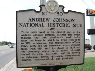 Andrew Johnson National Historic Site Marker image. Click for full size.