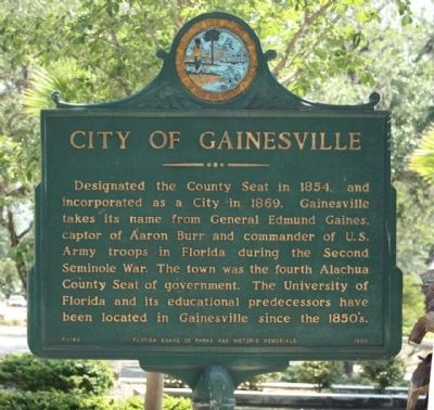 City of Gainesville Marker image. Click for full size.