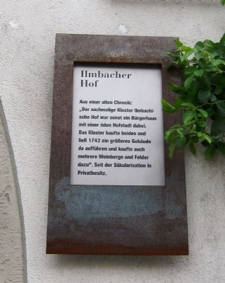Ilmbacher Hof Marker image. Click for full size.