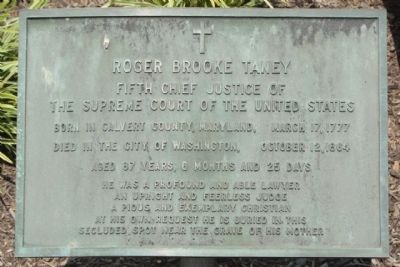 Roger Brooke Taney Marker image. Click for full size.