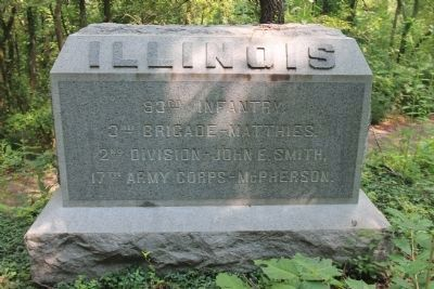 93rd Illinois Infantry Marker image. Click for full size.