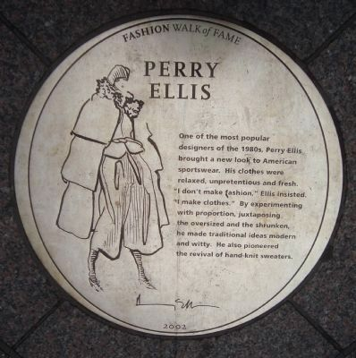 Perry Ellis Marker image. Click for full size.