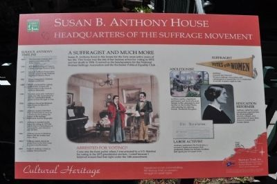 Susan B. Anthony House Marker image. Click for full size.