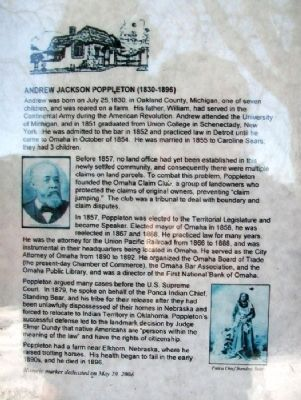 Andrew Jackson Poppleton Marker image. Click for full size.