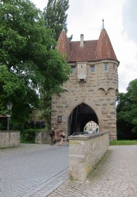 Einersheimer Gate and Marker - eastern side image. Click for full size.