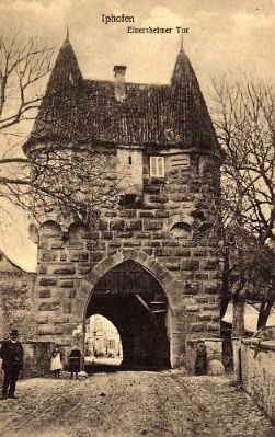 Einersheimer Gate - eastern side (1921 postcard) image. Click for full size.