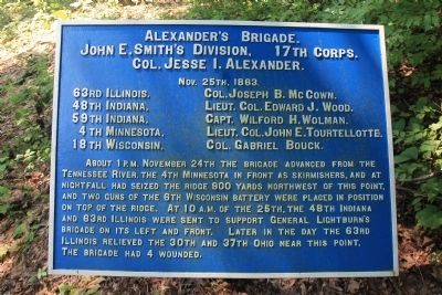 Alexander's Brigade Marker image. Click for full size.