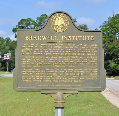 Bradwell Institute Marker image. Click for full size.