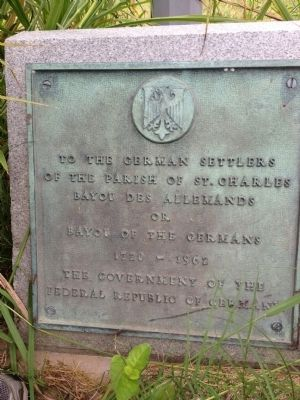 An additional marker at the base of the Battle of des Allemands Marker image. Click for full size.