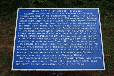 Army of the Tennessee Marker image. Click for full size.