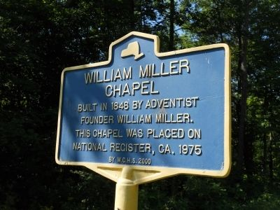 William Miller Chapel Marker image. Click for full size.