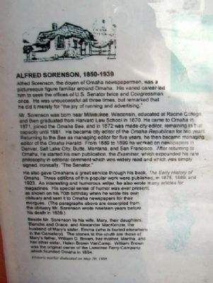 Alfred Sorenson Marker image. Click for full size.