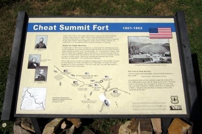 Cheat Summit Fort Marker image. Click for full size.